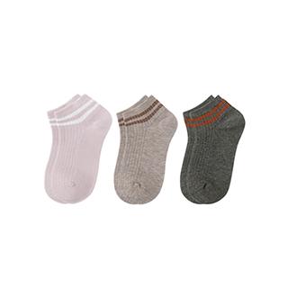 Connie透气儿童浅口袜-条纹款(3双装)