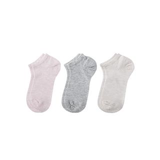 Connie透气儿童浅口袜-素色款(3双装)