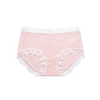 Pamela棉质中腰内裤-女士蕾丝款