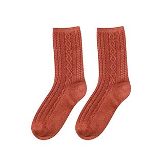 Wally保暖羊毛罗纹中筒袜-女士
