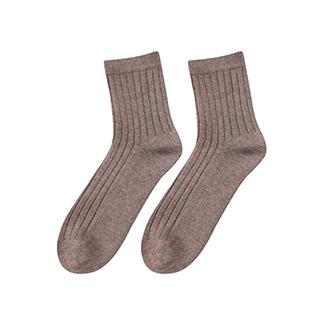 Wally保暖羊毛罗纹中筒袜-男士