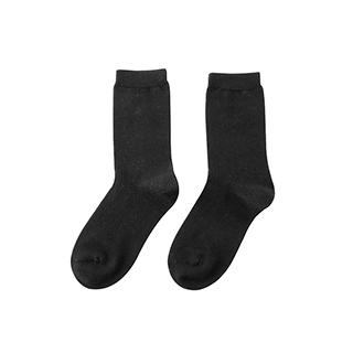 Shona柔暖羊毛直角中筒袜-女士
