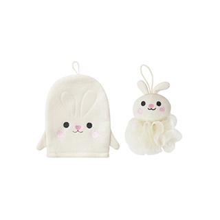 Lovey萌系沐浴清洁两件组-小兔