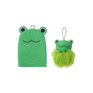 Lovey萌系沐浴清洁两件组-青蛙