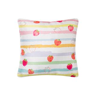 Lange舒适仿麻抱枕-草莓
