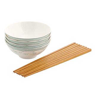 中华之美高级汝玉瓷茶碗—芙蓉春暖