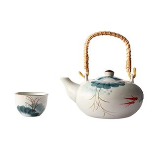 Lotus荷塘月色系列陶瓷茶具礼盒(5件组)