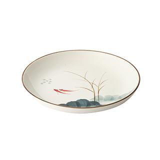 Lotus荷塘月色系列陶瓷餐盘(8英寸)