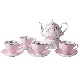 Kristine花园玫瑰系列骨瓷茶具礼盒(10件组)
