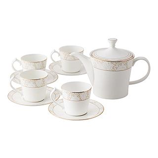 Myron玲珑雅致系列骨瓷茶具9件组