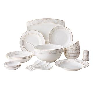 Myron玲珑雅致系列22头骨瓷餐具礼盒套装