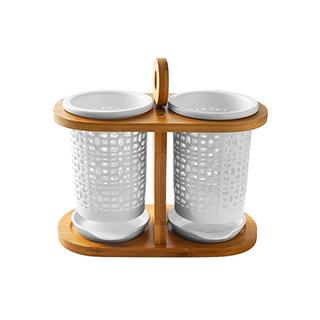 Zora雅竹系列陶瓷沥水筷笼