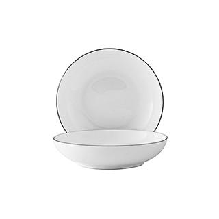Ingrid英格丽银边系列骨瓷小吃碟2只装(4英寸)