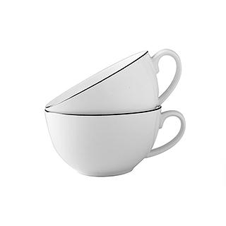 Ingrid英格丽银边系列骨瓷咖啡杯2只装