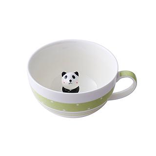 Meroy萌系卡通陶瓷咖啡杯(小熊猫)