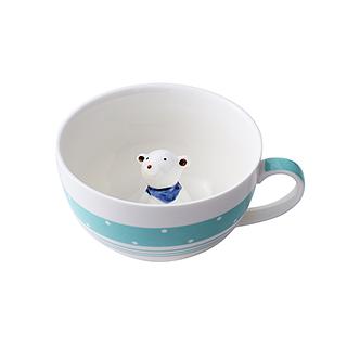 Meroy萌系卡通陶瓷咖啡杯(北极熊)
