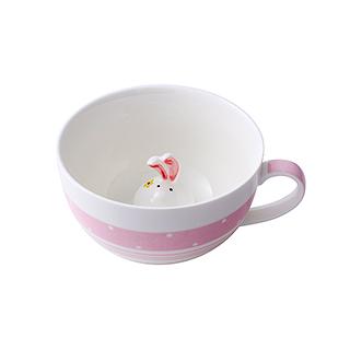 Meroy萌系卡通陶瓷咖啡杯(小兔子)