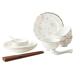 Brandon山茶花系列20头镁质瓷餐具礼盒套装