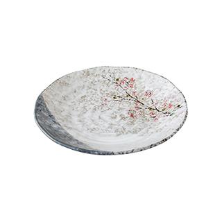 Snowing雪花釉系列傲雪寒梅陶瓷餐盘(8.5英寸)