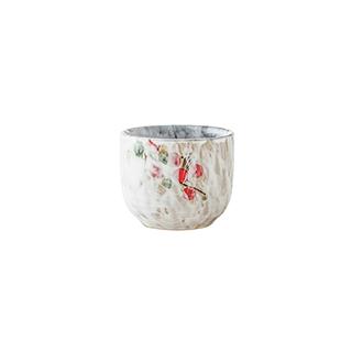 Snowing雪花釉系列傲雪寒梅陶瓷酒杯