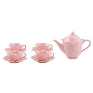 Vernal清风荷影系列陶瓷茶具礼盒(9件组)