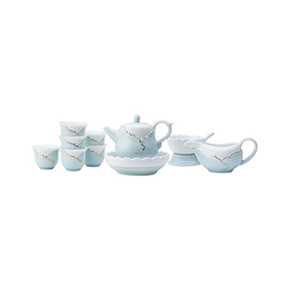 Alyssa忆荷青瓷描金茶具礼盒(11件组)
