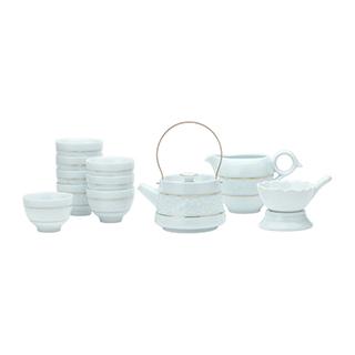 Kyra缠枝莲青瓷描金茶具礼盒(11件组)