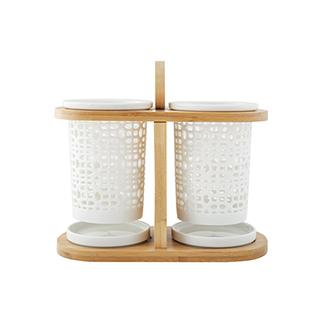 Cooker库克厨具系列陶瓷沥水筷笼