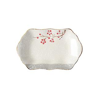Snowing雪花釉系列雪樱子陶瓷鱼盘(12英寸)
