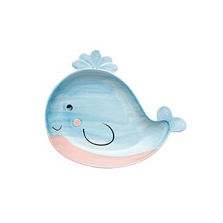 Bess萌系创意儿童餐盘-小鲸鱼