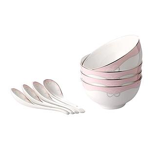 Ailsa花漾情结系列骨瓷碗勺8件组