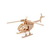 Kevin儿童益智玩具系列木制拼装模型-直升机