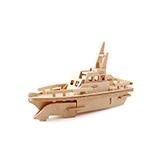 Kevin儿童益智玩具系列木制拼装模型-救生艇
