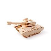 Kevin儿童益智玩具系列木制拼装模型-坦克