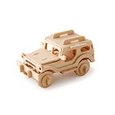 Kevin儿童益智玩具系列木制拼装模型-吉普车