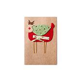 Hazel创意立体贺卡-圣诞鹿(C款)