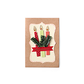 Hazel创意立体贺卡-圣诞蜡烛(A款)