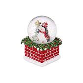 Christmas圣诞系列飘雪水晶球-圣诞企鹅