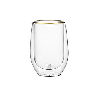 Clarence经典双层耐热金边玻璃杯(350ml)