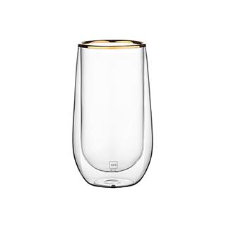 Clarence经典双层耐热金边玻璃杯(450ml)