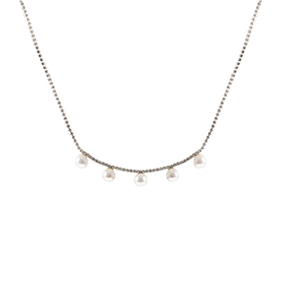 Cheryl雪莉尔饰品系列-弧形珍珠项链