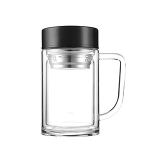 Melvin经典双层耐热玻璃泡茶杯(420ml)