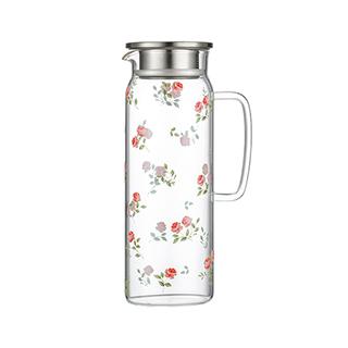 Hills耐热玻璃系列冷水壶-玫瑰款(1.5L)