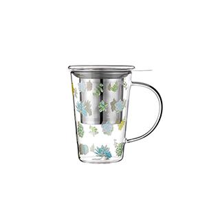 Shelley耐热玻璃系列泡茶杯-多肉款(400ml)