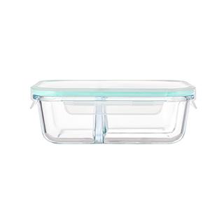 Porter耐热玻璃系列分隔保鲜盒(长方形-1000ml)
