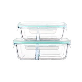Porter耐热玻璃系列分隔保鲜盒套装-长方形