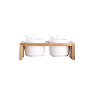 Nigel楠竹系列陶瓷调味罐(2件组)