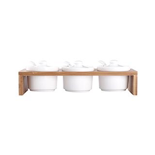 Nigel楠竹系列陶瓷调味罐(3件组)