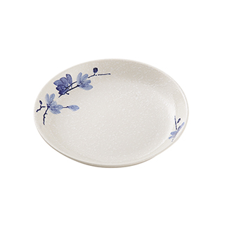 Snowing雪花釉系列青韵陶瓷餐盘(8英寸)