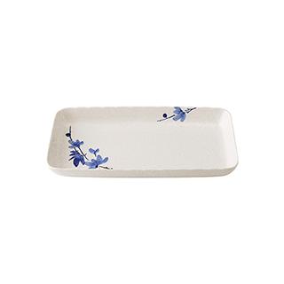 Snowing雪花釉系列青韵陶瓷鱼盘(9英寸)
